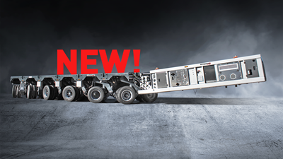 New! Twin tyre self-propelled trailers with electronic steering